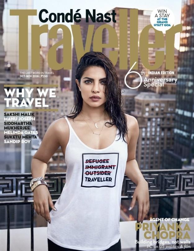Priyanka's controversial slogan tee
