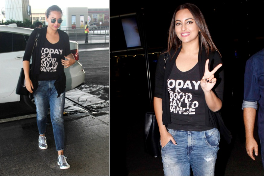 Sonakshi in a tee