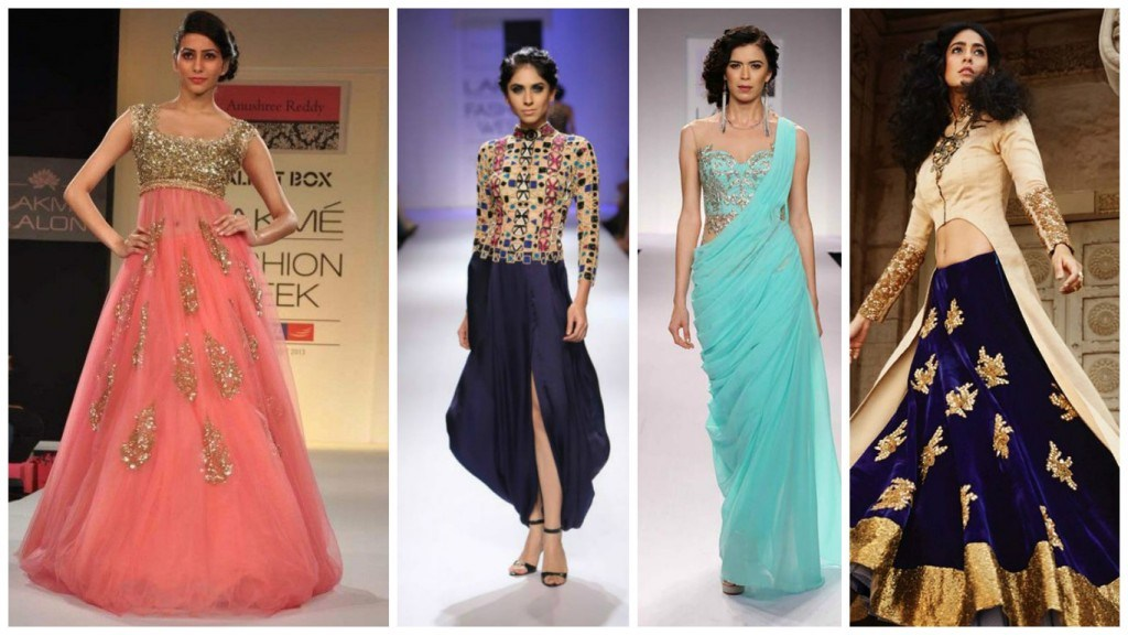 latest in trend indo-western wedding gown - FashionPro