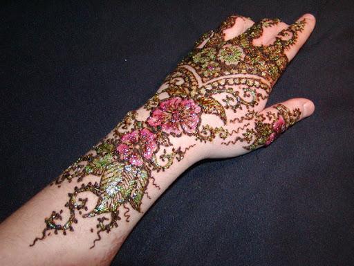 Colored Mehndi