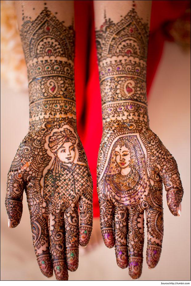 Bride & Groom Mehndi Designs (For weddings)