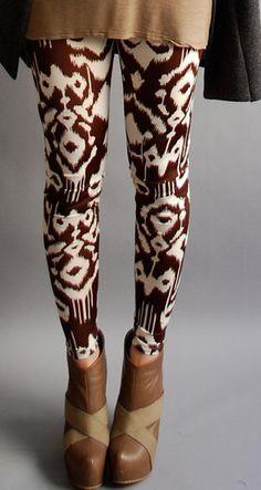 Ikat print leggings
