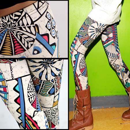 African print leggings