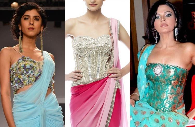 back bustier saree blouses