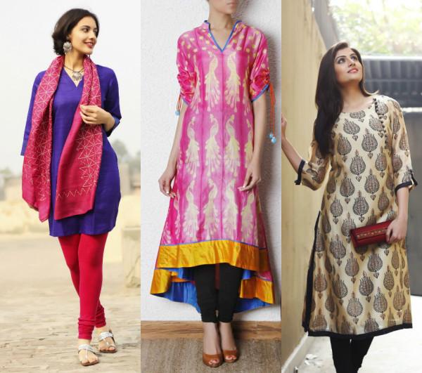 Silk Tunic Designs with leggings