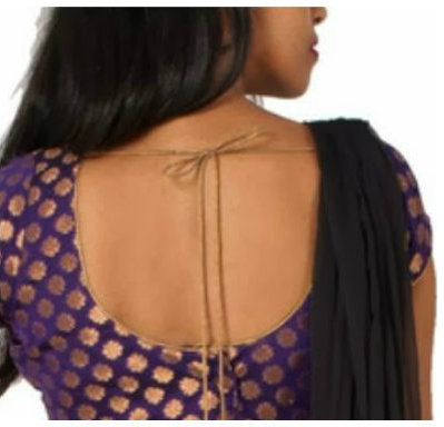 round back neck blouse
