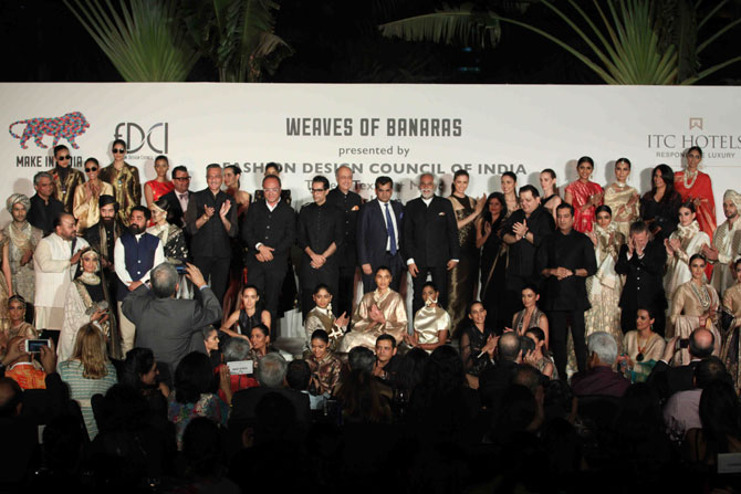 A final moment of flight for the designers along with their epic collections at Make In India Fashion Week
