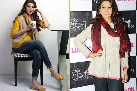 Sonali Bendre in kurti and jeans