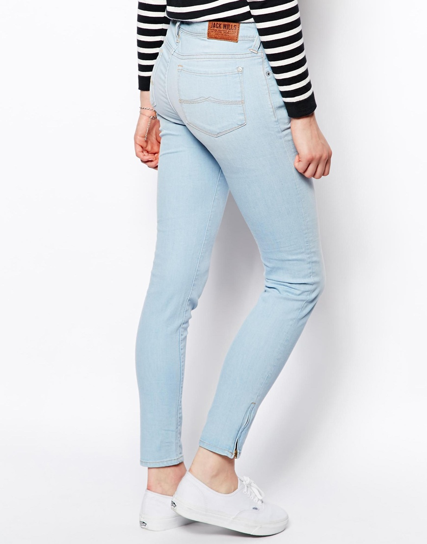 ankle length skinny fit jeans
