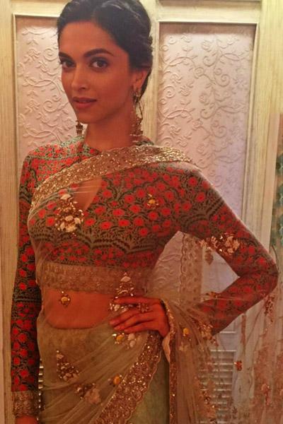 Deepika Padukone on sets of 'Swaragini' show during 'Bajirao Mastani' promotions