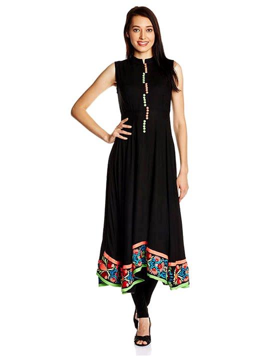 Asymmetrical kurti with leggings