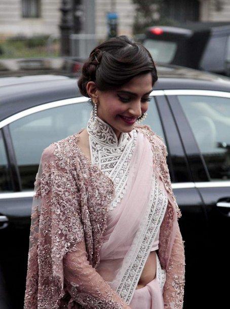 Sonam's blouse with shrug to the Parish Fashion Week