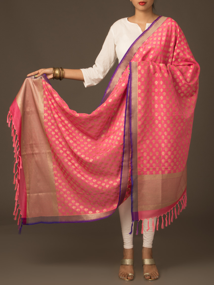 Traditional Banarasi silk dupatta.