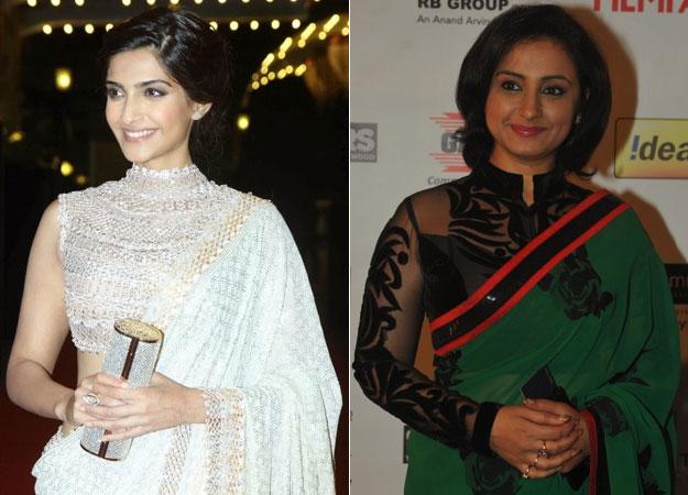 Bollywood actress in High-Neck Designer Blouse Designs