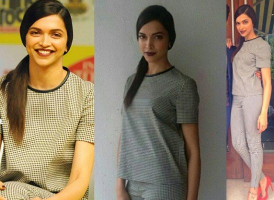 Hairstyles Inspired By Deepika Padukone_Side partition pony