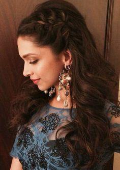 Hairstyles Inspired By Deepika Padukone_ Side twisted hairHairstyles Inspired By Deepika Padukone_ Side twisted hair