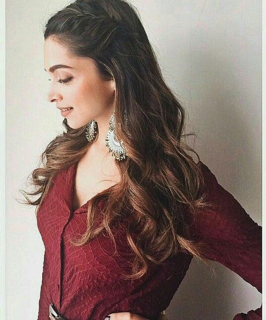 Hairstyles Inspired By Deepika Padukone_ Side twisted hair