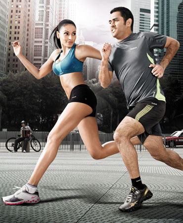 Dhoni and Bips for a Reebok ad