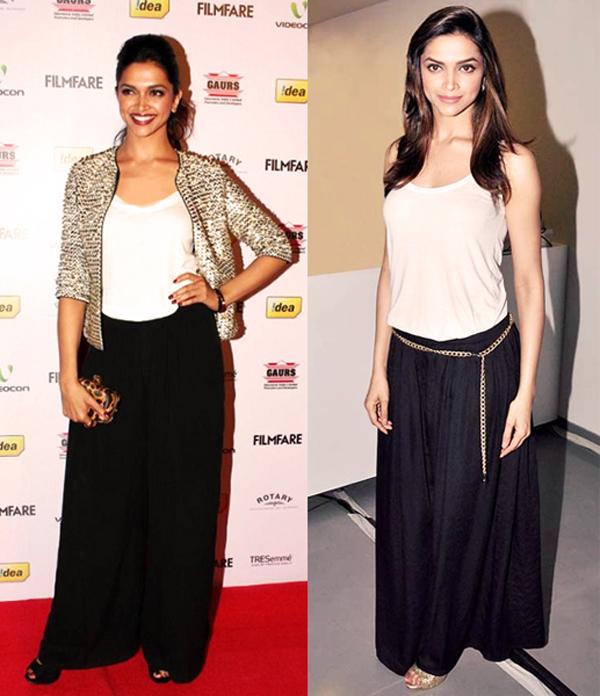Deepika in black palazzo pants