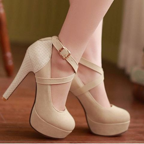 Criss Cross High Heel Pumps
