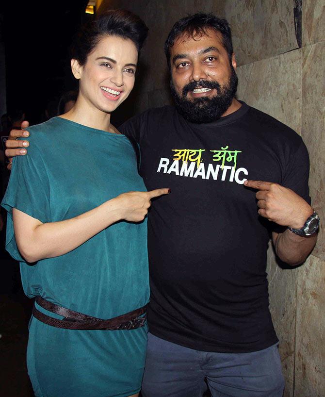 Kangana with Anurag Kashyap