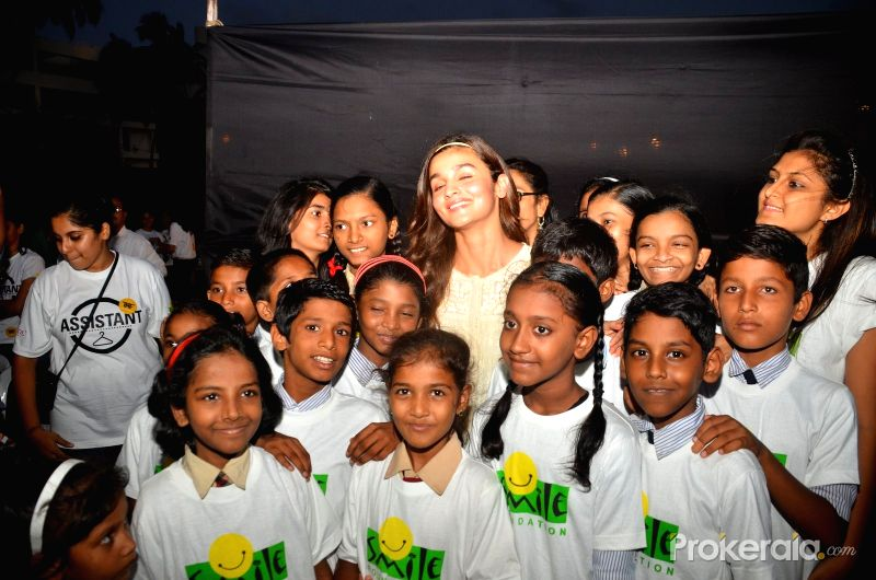 Alia at a Smile Foundation Event