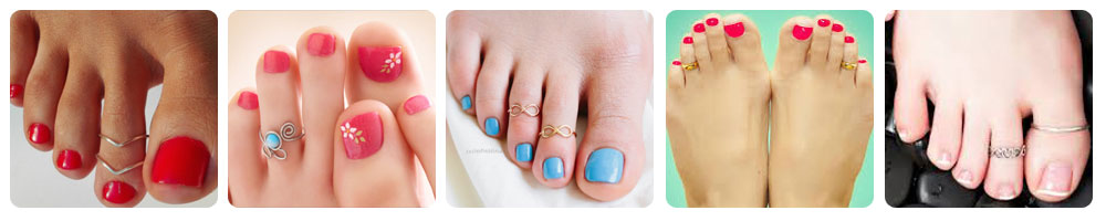 Different types of toe rings