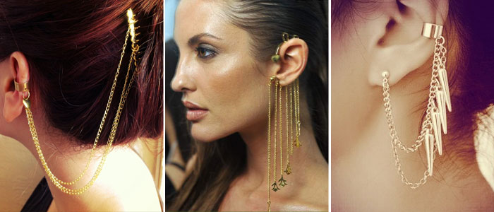 Different types of ear cuffs