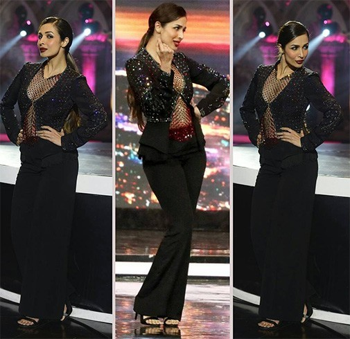 Malaika during the shoot of India's Got Talent