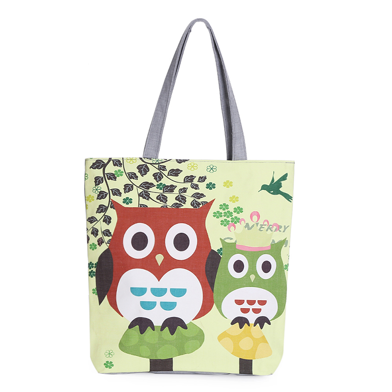 Tote bags with owls