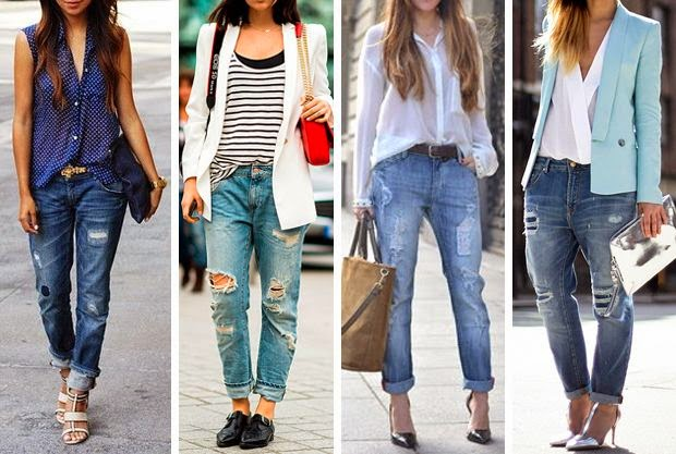 Rolled-up Jeans