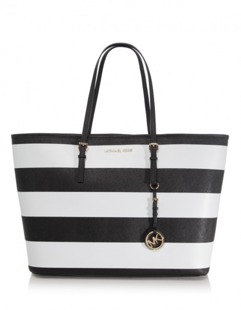 Tote bags with stripes