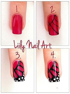 Butterfly nail art how to