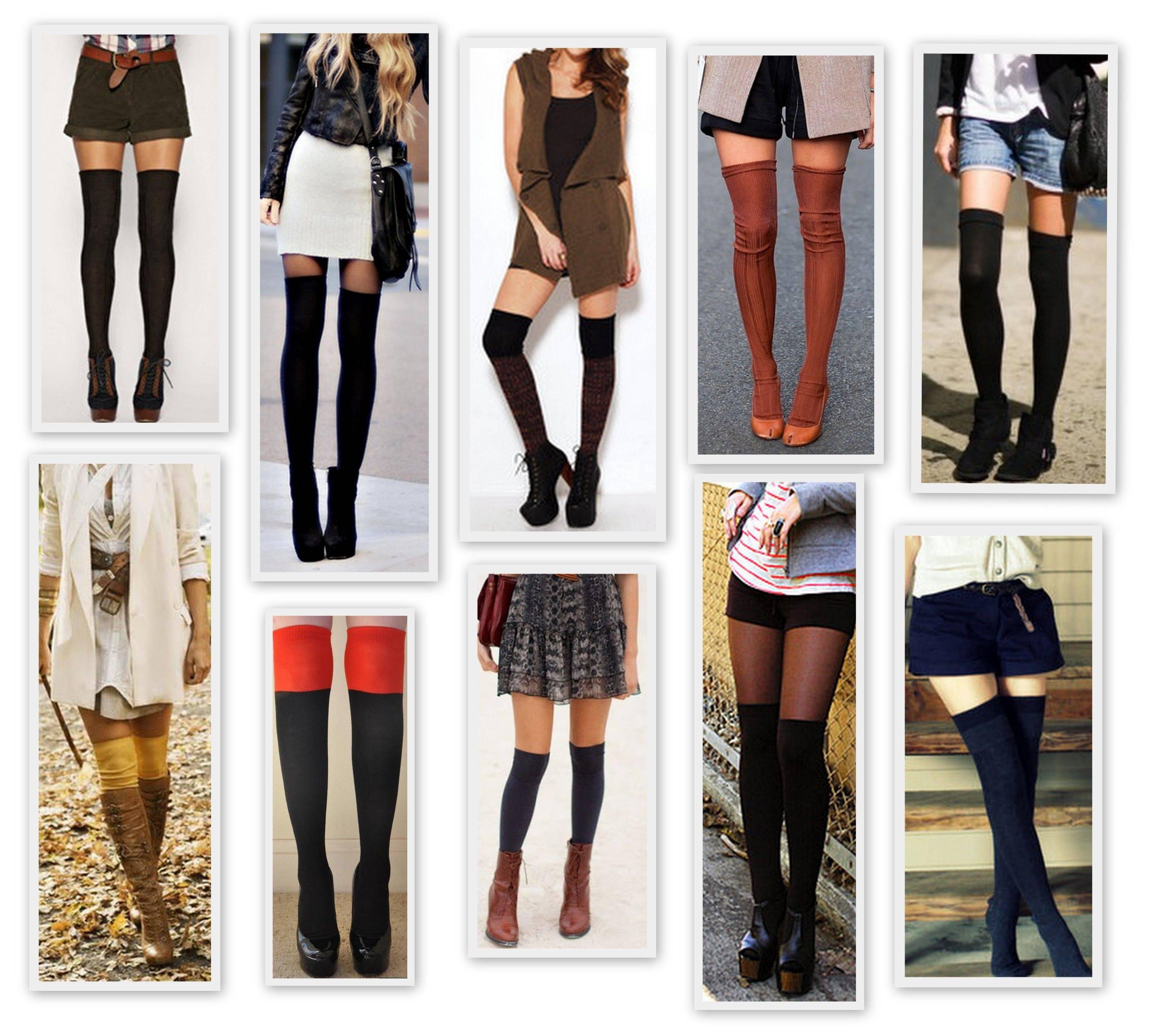 High thigh socks