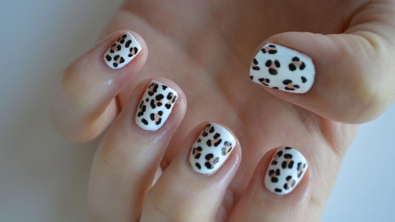 Leopard nail art design