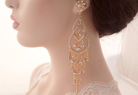 Swaroski crystal earrings