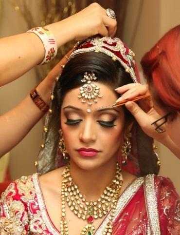 Waterproof bridal makeup