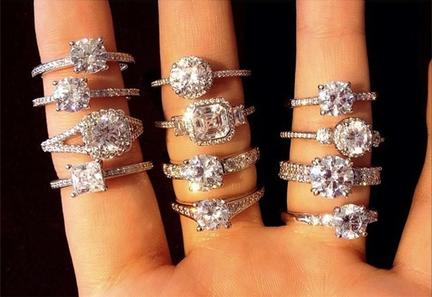 Try out as many rings as you can