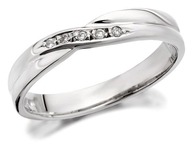 White gold bridal wedding ring