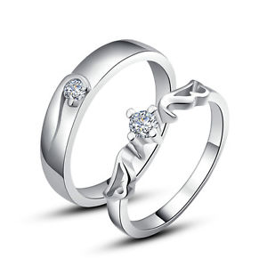 Platinum couples wedding rings