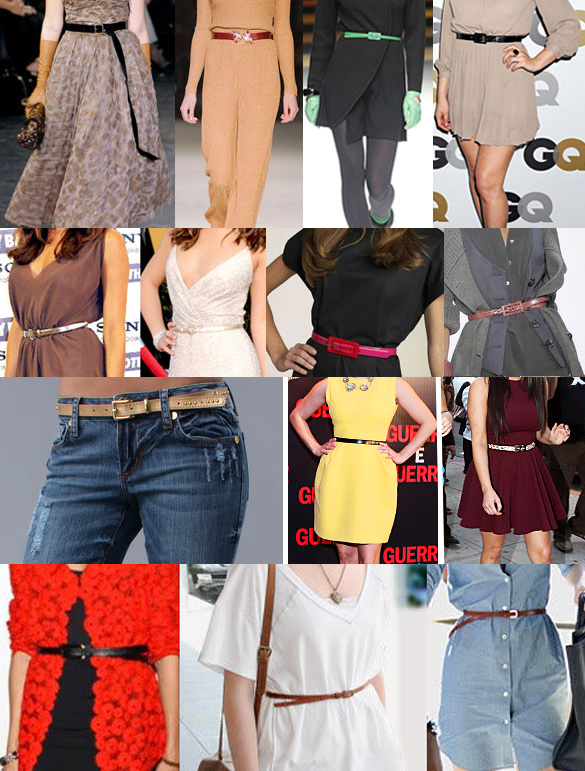 Skinny belts for every outfit