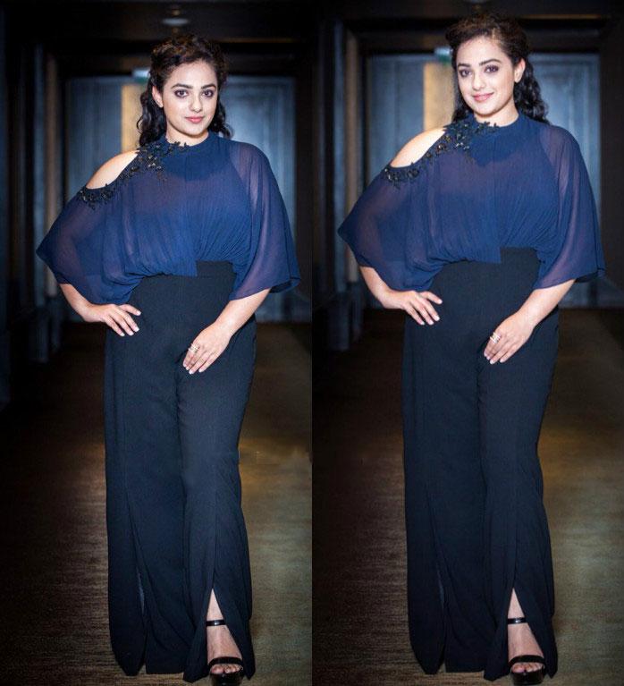 Nitya Menon's look