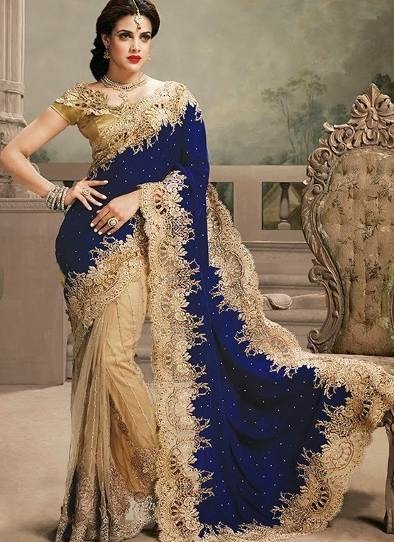 The model in Georgette wedding Saree.