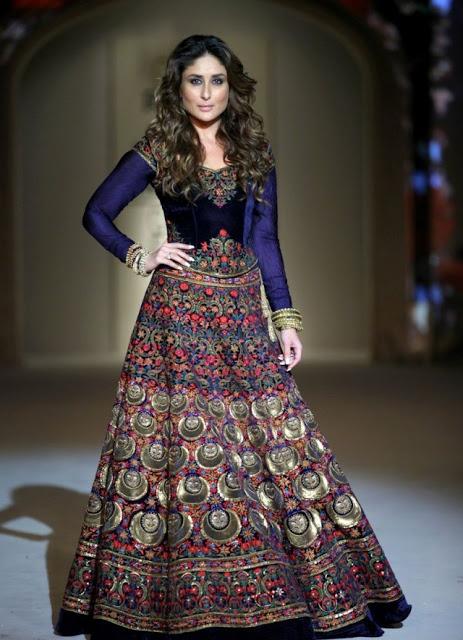 Kareena Kapoor in lehenga with long sleeves.