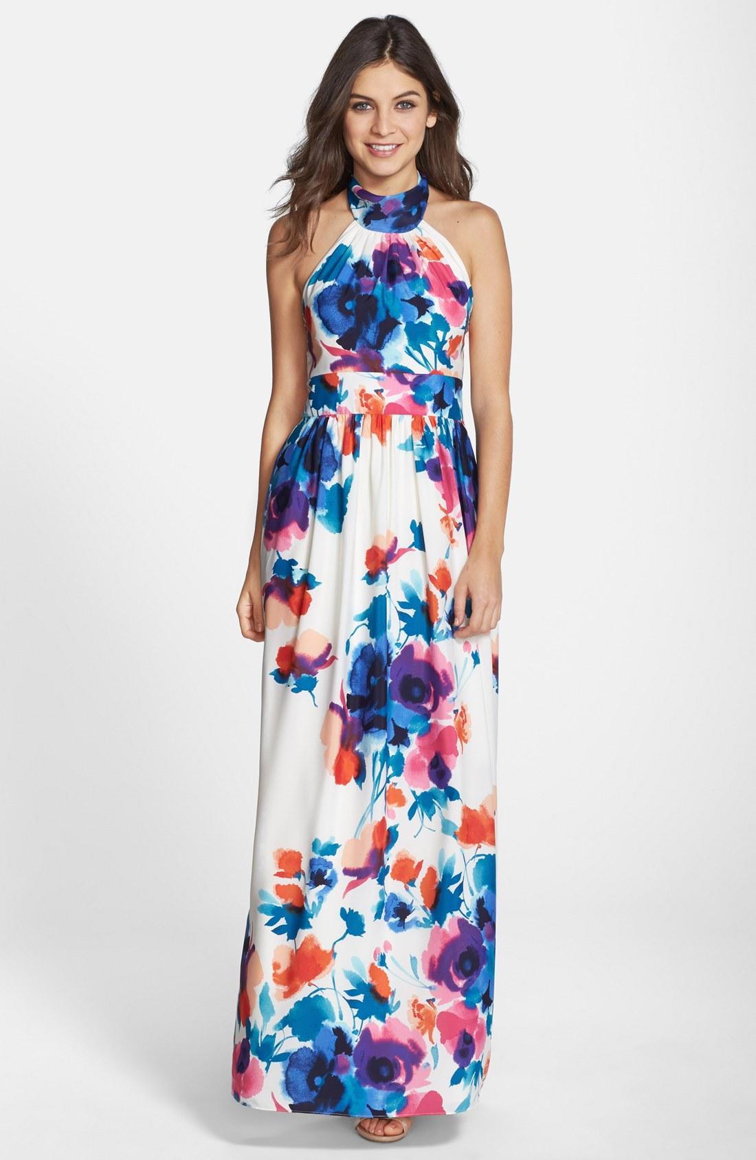 Another halter-neck maxi dress