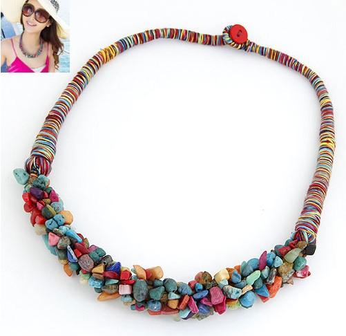 bohemian_style_multi_color_artificial_stones_choker_necklace_wholesale_1