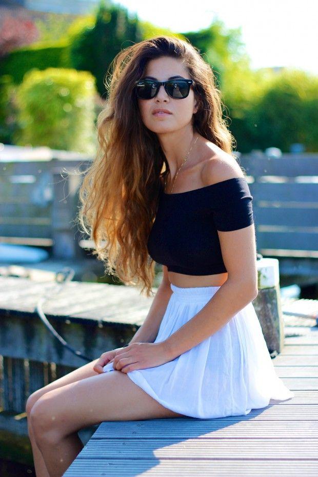 croptop with skater skirt