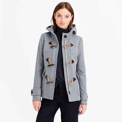 The model in duffle coat.