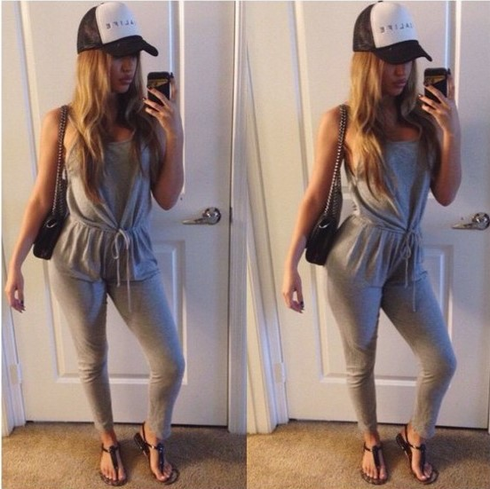 The model in Jersey Jumpsuit.