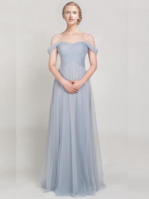 Pastel off shoulder gown